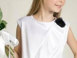 Продам блузки школьные атласные