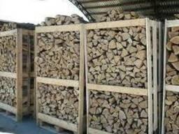 Продам дрова в ящиках по 2 складометра.береза дуб.колатые.