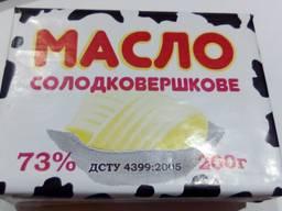 Продам масло сливочное ДСТУ 73% от производителя