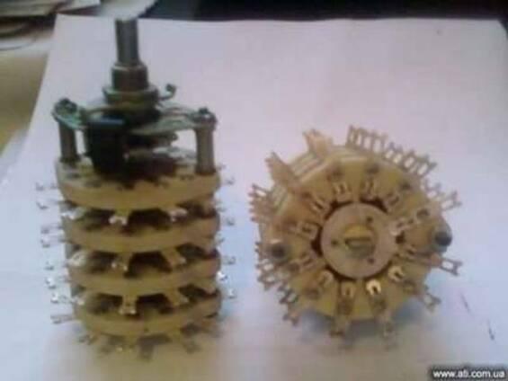 Продам Переключатели галетные ПГК поворотные с керамическим