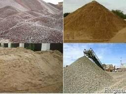 Щебень, песок, отсев, глина, чернозем, цемент и пр. стро