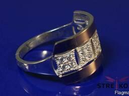 Продам серебряные кольца с золотой напайкой