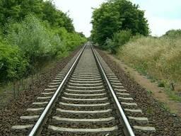 Железнодорожные рельсы , шпалы, рейки,