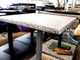 Продам столы б/у (столешница – верзалит под мрамор, нога – - фото 1
