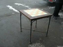 Продам столы дерево кованные б/у