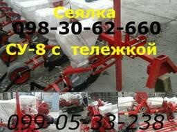 Продажа сеялка су-8 с транспортной телегой упс-8 типа / прод