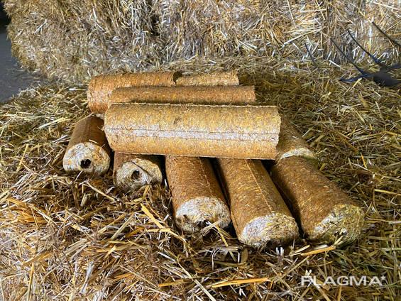 Продажа топливных брикетов из соломы от производителя ФХ Быхкало