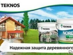 Продукты Текнос для внутренней и наружной окраски