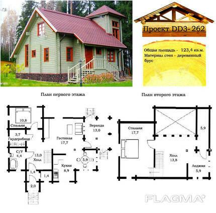 Проект дома из профилированного бруса 123,4 м2