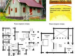 Проект дома из профилированного бруса 123,4 м2. Проект...