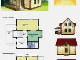 Проект каркасно-щитового дома 120 м2. Проект дома. ..