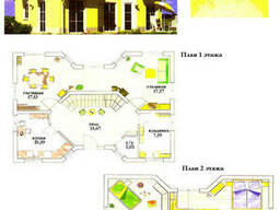Проект каркасно-щитового дома 126, 5 м2 . Проект дома. ..