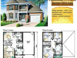 Проект каркасно-щитового дома с заполнением 126, 7 м2. .. .