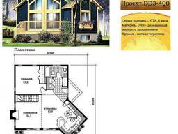 Проект каркасно-щитового дома с заполнением 78 м2. Проект. ..