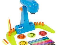 Детский проектор для рисования A-Toys с фломастерами (Синий ) (YM134(Blue))