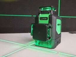 Профессиональный лазерный уровень нивелир 3D, зелёный луч Protester LL412G