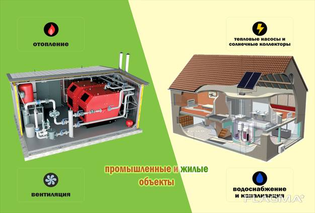 Профессиональные услуги по проектированию, монтажу и обслуживанию инженерных систем