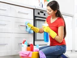Профессиональные услуги по уборке квартир, домов, офисов