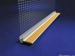 Профиль оконное примыкание с сеткой для утепления фасадов