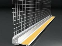 Профиль оконного примыкания с сеткой 6мм/3мм с уплотнит. 2, 4м