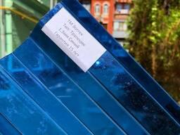 Профилированный монолитный поликарбонат синий