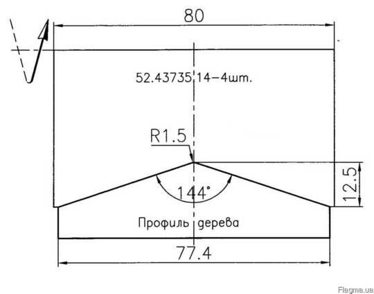 Профильные ножи Иберус 52.43735.14