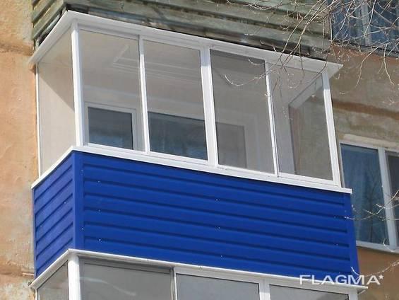 Профлист для балкона, Балкон из металлопрофиля.