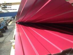 Профнастил двухсторонний вишневый, профлист бордовый RAL3005