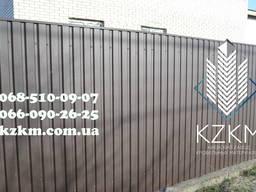 Профнастил матовий темно-коричневий RAL 8019, купити матовог