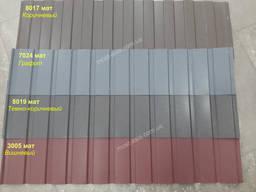 Профнастил двухсторонний матовый для забора Италия 0, 45 мм