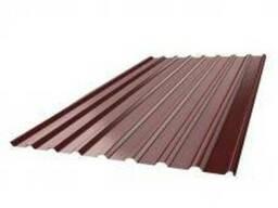 Профнастил НС - 20 2000×1150×0,4 8017 (коричневый 2,3 м кв.)