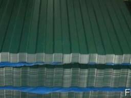 Профнастил ПС-10 0,96 х 2,0 м 0,35мм 6005 (зеленый)