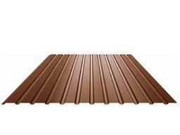 Профнастил ПС-10 коричневый RAL 8017