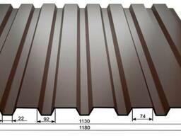 Профнастил ПС-20 0,5мм матовый, метал Бельгия, производство