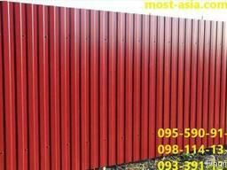 Профнастил РАЛ 3005 бордовый, Металлопрофиль 3005 красный