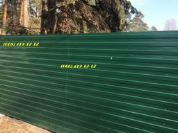 RAL 6005, зеленый профнастил, забор зеленого цвета, профлист