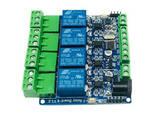 Программируемый 4-канальный релейный модуль с оптоизолированным RS485 STM8S103F3 - фото 1