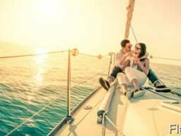 Прогулки по Днепру на парусной яхте