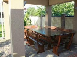 Производство деревянной мебели для беседки 2500х1200+6. ..