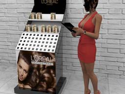 Производство рекламных стендов для косметики