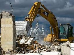 Промышленный демонтаж объектов, вывоз строительного мусора