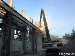 Промышленный демонтаж, разрушение бетонных и железобетонных конструкций
