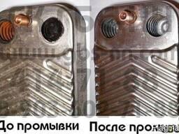 Промывка теплообменника газового котла, колонки в Днепре