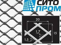 Просечно-вытяжной лист, оцинковка, TP MQ20/15x1,7x1,5/1000x2