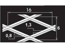 Просечно-вытяжной лист TH MR16/6x1, 3x0, 8/1000x4400