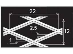 Просечно-вытяжной лист TH MR22/12x2, 5x1/1000x2000