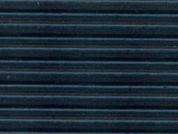 Противоскользящая лента ребристая (резина), черная 25мм