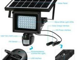 Прожектор-камера видеонаблюдения на солнечной батарее 40Led
