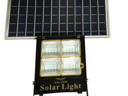 Прожектор LED+ Solar Сонячна Панель+пульт 20W IP65 6500К. ..