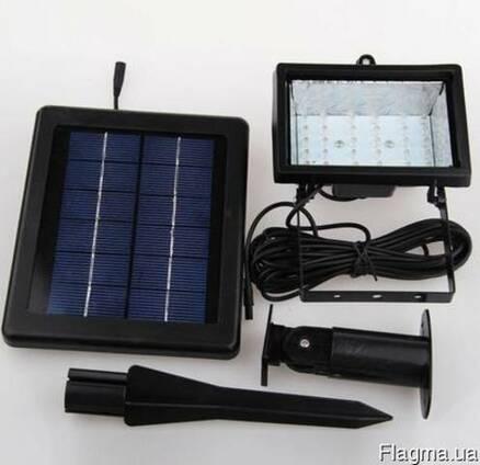 Прожектор на солнечной батарее 30 LED с датчиком,светильник,
